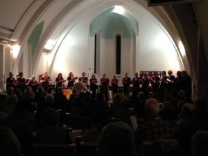 The choir at Christmas in St Martin's
