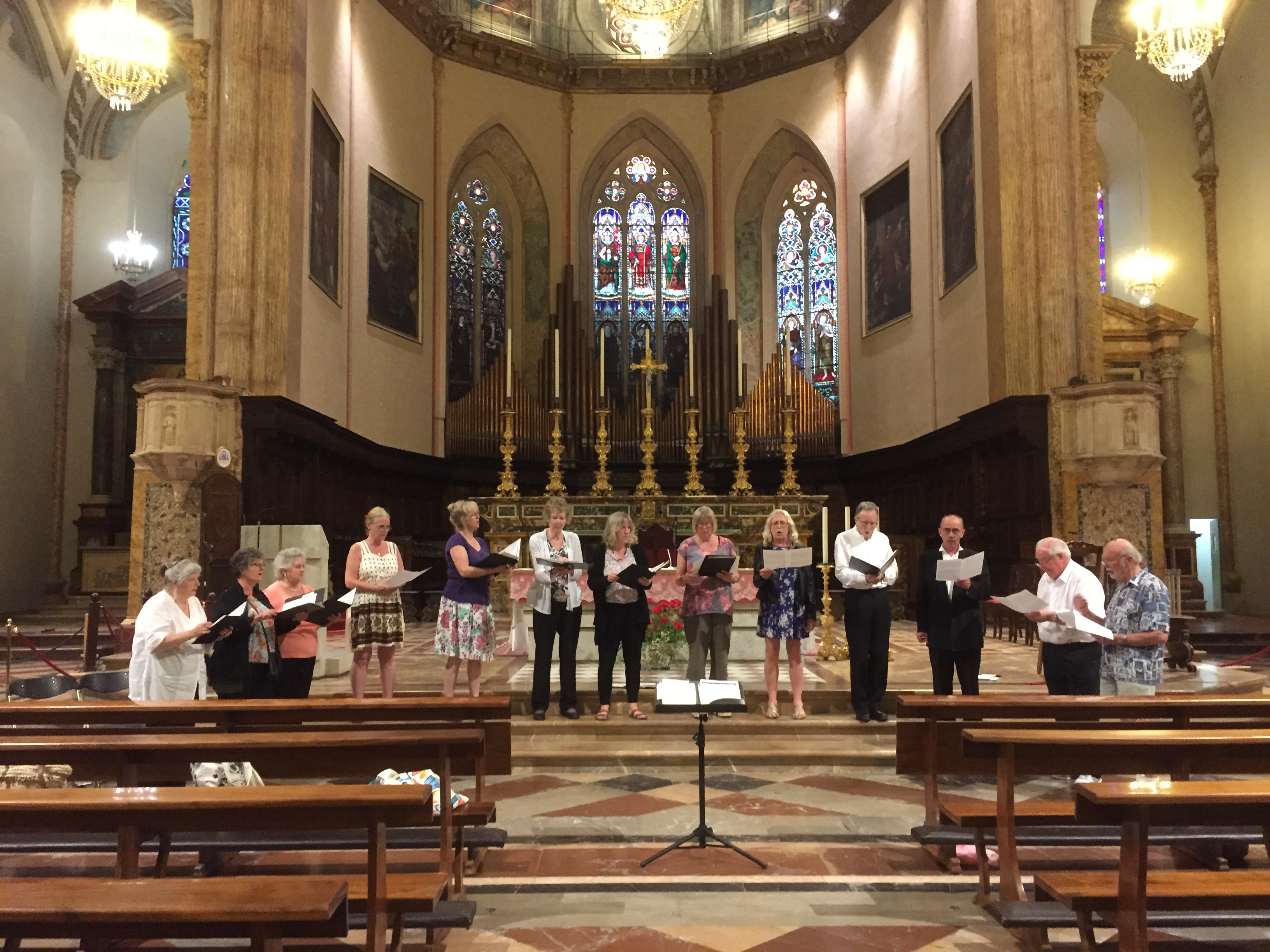 Perugia Cathedral Rehearsal