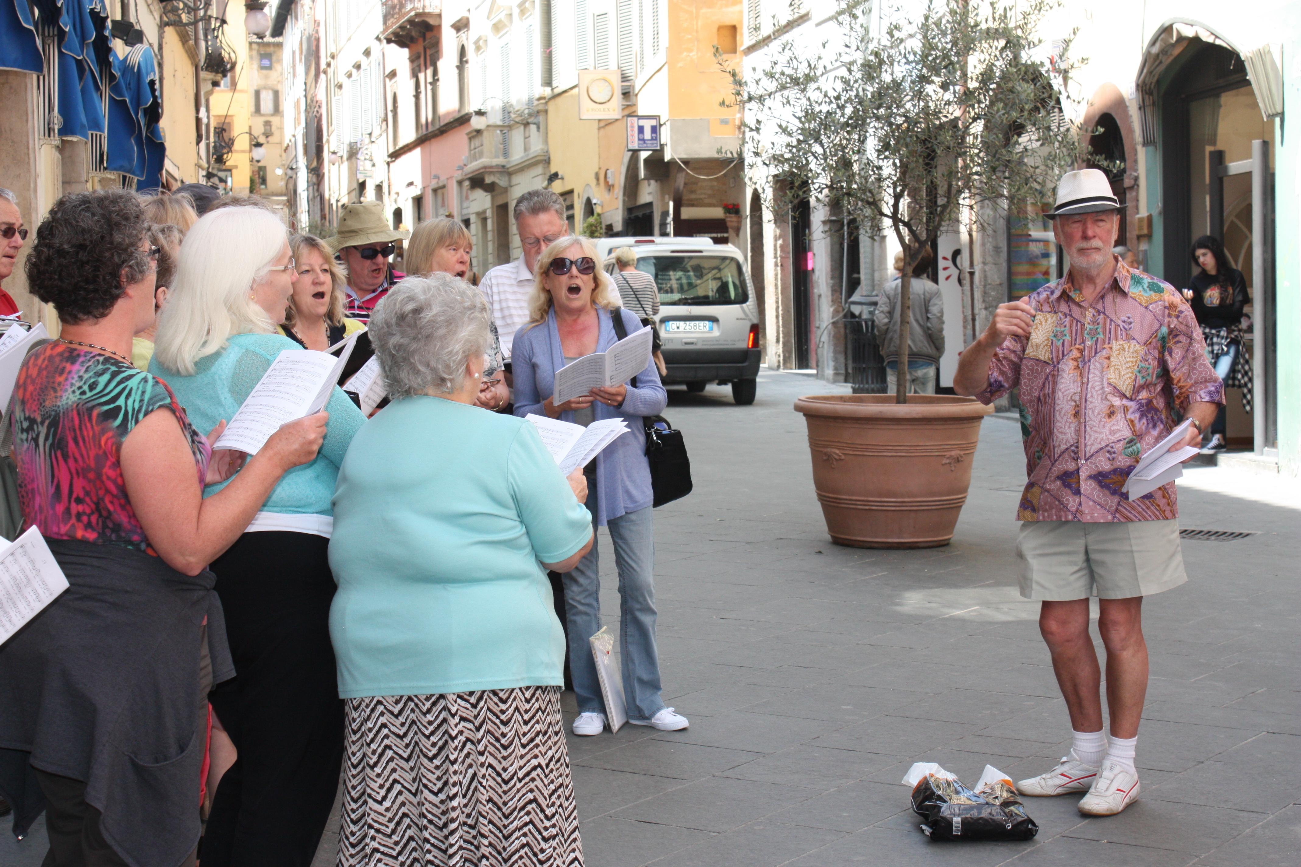 Spoleto Street Singing