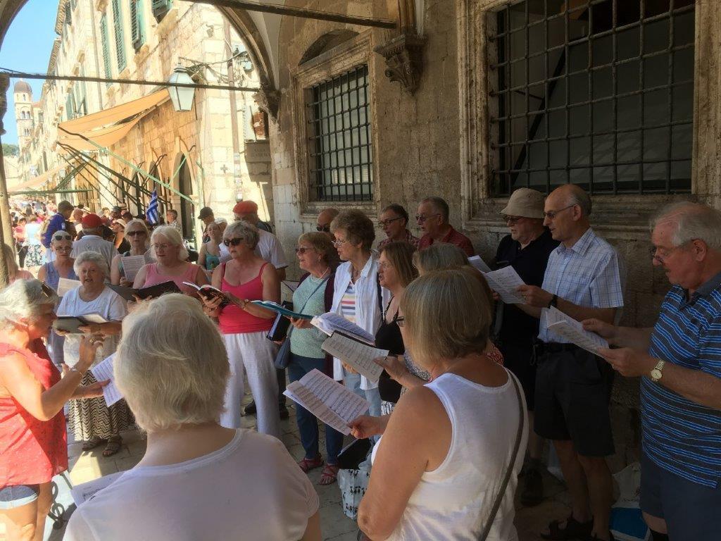TMS Busking in Dubrovnik